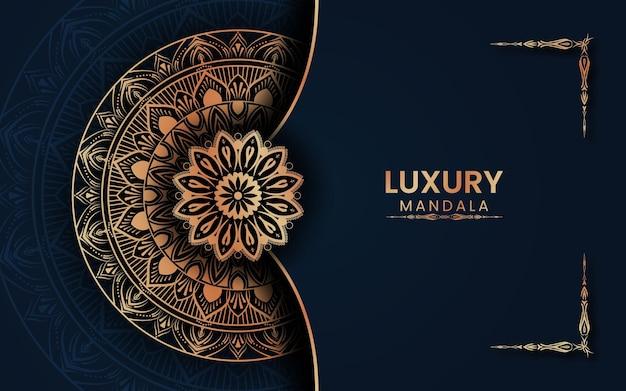 Luxusmandala mit goldenem arabischen islamischen hintergrund