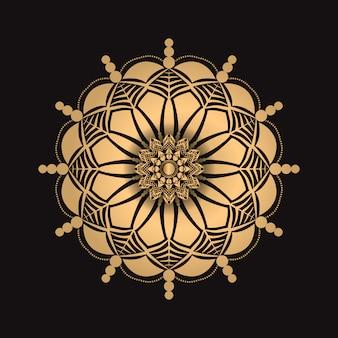 Luxusmandala mit goldener art