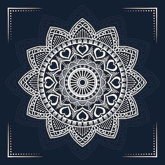 Luxusmandala mit islamischer arabeske