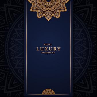 Luxusmandalahintergrund mit arabeske goldener dekorativer ostart