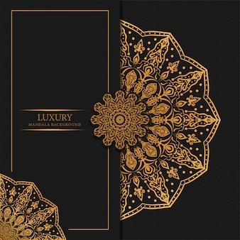 Luxusmandalahintergrund mit arabischem islamischem design des goldenen arabeskenmusters