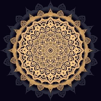 Luxusmandalahintergrund mit goldenem arabeskenmuster