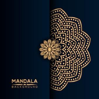 Luxusmandalahintergrund mit goldener art
