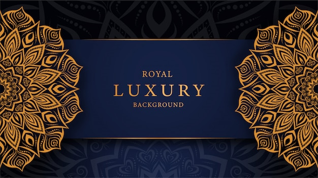 Luxusmandalahintergrund mit goldener dekorativer art der arabeske