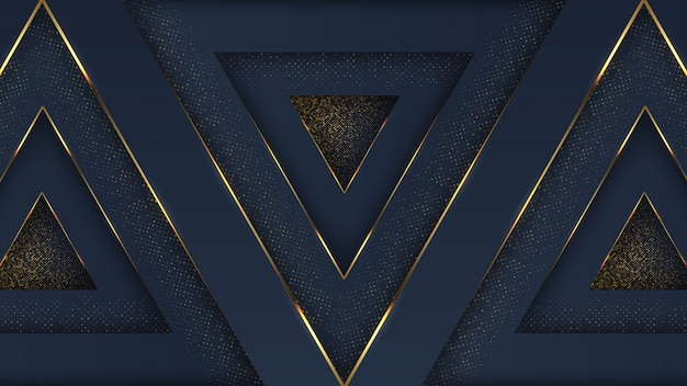 Luxusmarineblau-goldener abstrakter hintergrund mit deckschicht