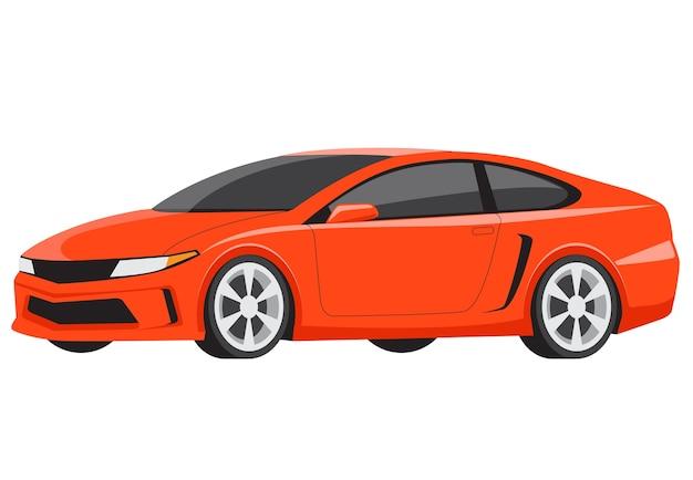 Luxusmodell-flacher vektor des orange sportautos