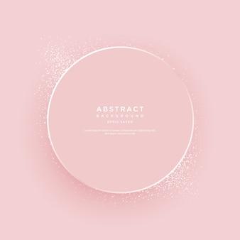 Luxusrahmen auf rosa hintergrund