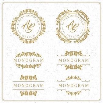 Luxusschablonendesign für hochzeit und dekoration