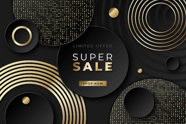 Luxusverkaufshintergrund mit goldenen elementen