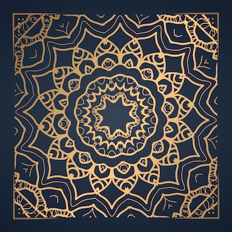 Luxusverzierungsmandala-ornamentalillustration