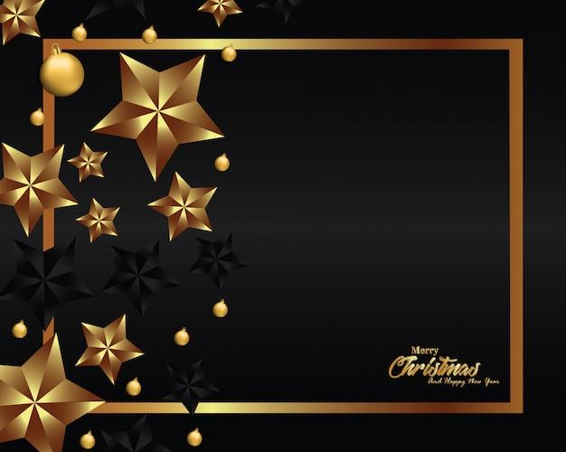 Luxusweihnachtshintergrundauslegung für fahne und grußkarte