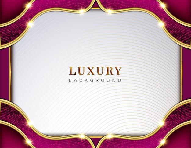 Luxuswelle mempis papierart hintergrund