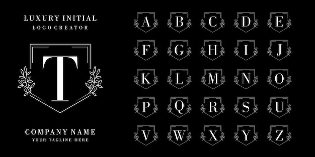 Luxuxanfangsabzeichen-logoentwurf