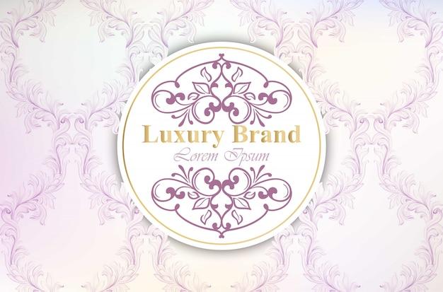 Luxuxmarkenkarte mit luxuriösem verzierung vektor. abstrakte design-illustration. platz für texte