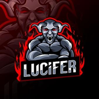 Luzifer maskottchen logo vorlage design