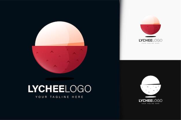 Lychee-logo-design mit farbverlauf