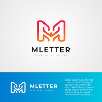 M brief technologie logo design-vorlage