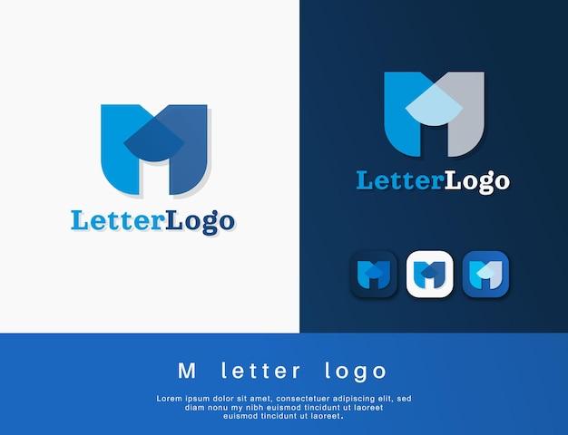 M-buchstaben-logo-design oder m-monogramm-design
