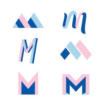 M logo sammlung konzept