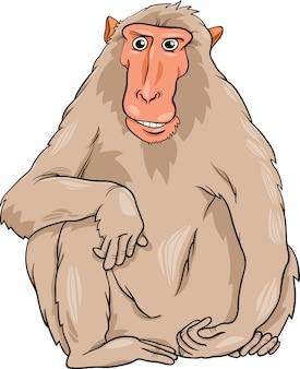 Macaquee-tierkarikaturillustration