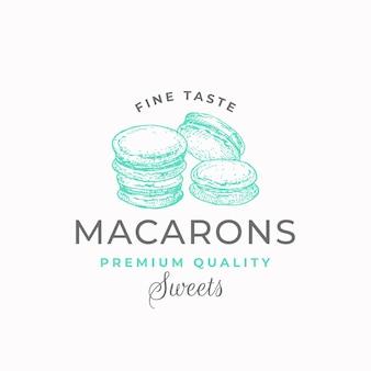 Macarons-etikett mit feinem geschmack