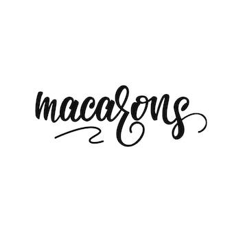 Macarons schriftzug