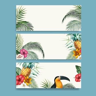Macaw laub-modellsammlung
