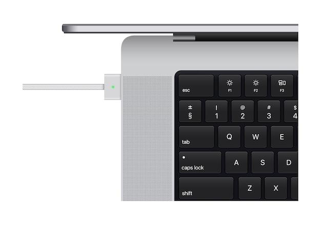 Macbook pro 2021. realistisches laptop-computermodell. vektor. macbook pro m1 pro. macbook pro m1 max. saporischschja, ukraine - 19. oktober 2021