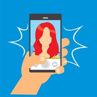 Machen sie bilder mit mobiltelefon