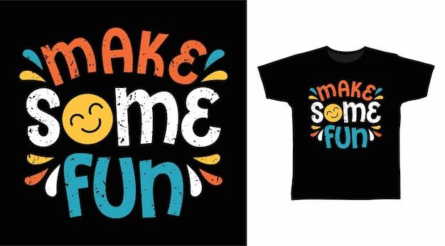 Machen sie ein paar lustige typografie-t-shirt-designs