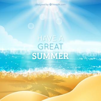 Machen sie einen schönen sommer hintergrund