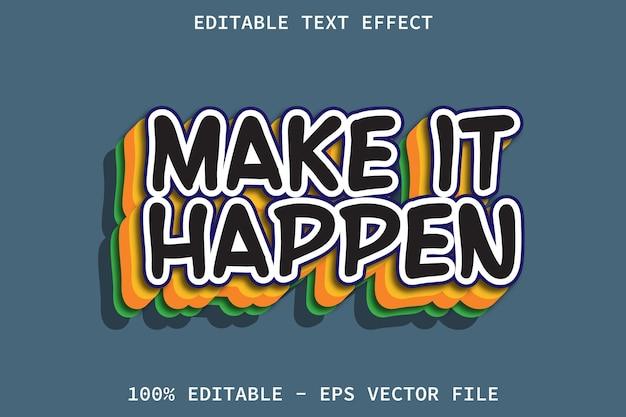 Machen sie es mit bearbeitbarem texteffekt im cartoon-stil möglich