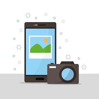 Machen sie fotos mit dem smartphone