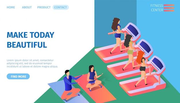 Machen sie heute schöne horizontale banner. fitness