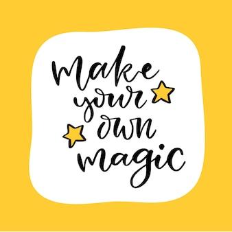 Machen sie ihren eigenen magischen druck für kleidung