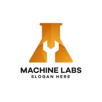 Machine labs logo-design mit farbverlauf