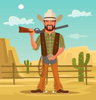 Macho hübscher cowboy.