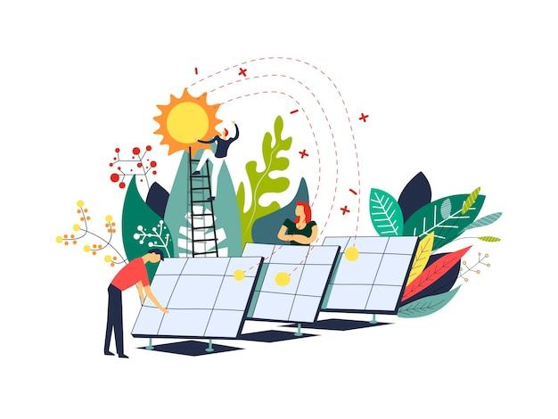 Macht der sonne solarbatterien alternative energie