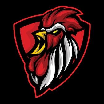 Mad rooster esport logo illustration
