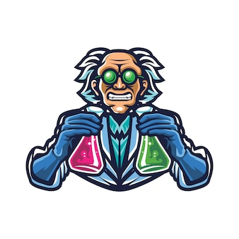 Mad scientist esport logo