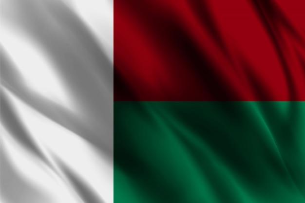 Madagaskar flagge, die abstrakten hintergrund winkt