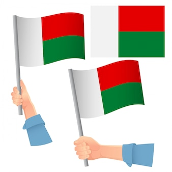 Madagaskar flagge im handset