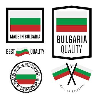 Made in bulgaria beschriftungssatz