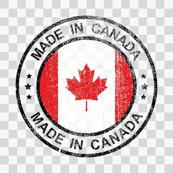 Made in canada-stempel im grunge-stil
