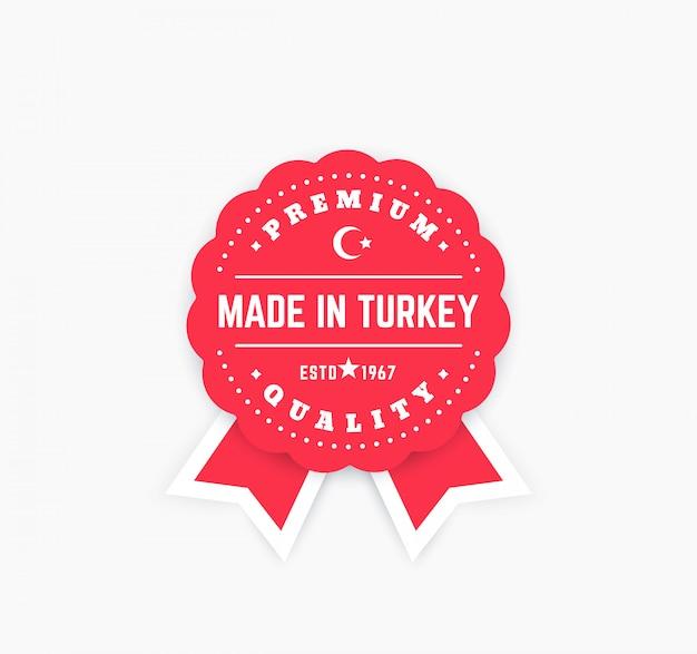 Made in turkey vektorabzeichen