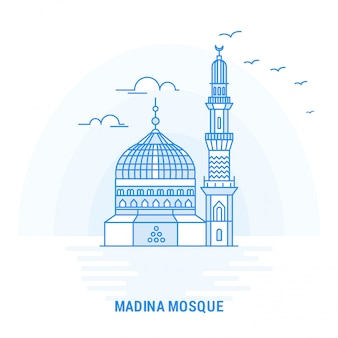 Madina mosque blue wahrzeichen