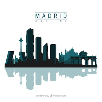 Madrid skyline design
