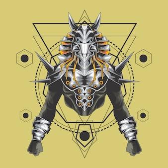 Mächtige anubis heilige geometrie