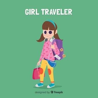Mädchen auf eine reise gehen