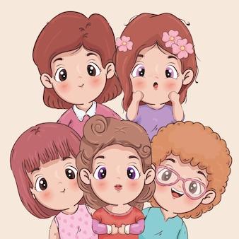 Mädchen cartoons illustration